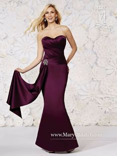 Find More Bridesmaid Dresses Information about Bridesmaid Dresses 2017 Long pink Satin Mermaid Floor Length Maid of Honor Dresses Wedding Party Dress Evening Prom Gown Cheap,High Quality dress fashion -winter,China gown sample Suppliers, Cheap dress for full figure from Sweety-Bridal on Aliexpress.com