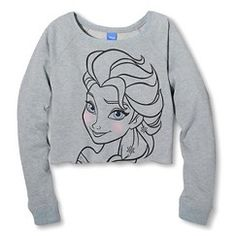 Cropped Elsa Graphic Pullover Blue - Disney XS - #Target #Coupon #Codes #Promocodes #Discounts #Deals #Offers