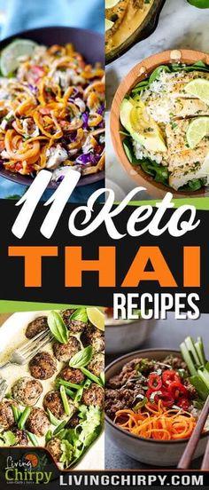 Low Carb Meals 11 Quick, Easy and Simple Keto Thai Recipes Vegan Keto, Vegetarian Keto, Vegetarian Entrees, Vegetarian Breakfast, Vegan Food, Paleo, Ketogenic Recipes, Diet Recipes, Healthy Recipes