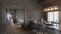 Prosjektering og innredning av hytte på Mosetertoppen i Gudbrandsdalen – Areal: 350 m2 – Ferdigstilt: 2014