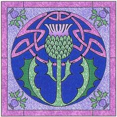 Celtic Thistle Wall Hanging Pattern by Celtic Crossworks (Although this is for an appliqué wall hanging, I like this pattern for a different craft idea)