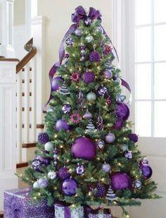 #crisrtmas #tree #purple #violet #ideas #decor #sovaorgua