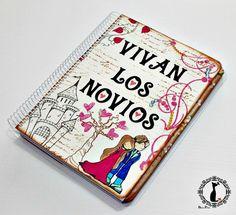 Agenda para novia, VIVAN LOS NOVIOS http://cinderellatmidnight.com/2014/07/02/agendas-para-novias-made-by-cinderella/