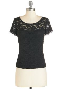 Taste of Vegas Top. Wherever ladies night has you and the gals gathering, arrive in the all-out alluring look of this black lace top! #black #modcloth