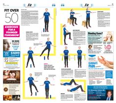 Fit Over Fifty: Exercises for a Younger Tomorrow Epoch Times #Fitness #WorkOut #newspaper #editorialdesign