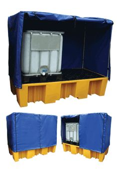 Double IBC bund in yellow - suitable for 2 standard 1000 litre IBC's