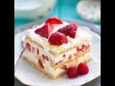 ❤️ Ce gâteau aux fraises SANS CUISSON est tout ce dont vous avez besoin en ce jour de st-valentin! ❤️ - Desserts - Ma Fourchette