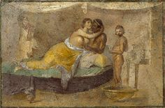 A detail of the 1st century BCE fresco which entirely decorated a cubiculum (probably a bedroom) of the Villa of the Farnesina in Rome. The room has a distinct Egyptian flavour mixed with scenes from Greek mythology. (Palazzo Massimo, Rome).