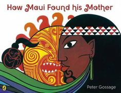 I would choose this book to share as it is about Maori culture, an important aspect of our lives. Gossage, P. How Maui found his mother. Auckland, N. Maori Legends, Sun Illustration, Polynesian Islands, Black Love Art, Kiwiana, How To Take Photos, Book Design, Maui, Storytelling