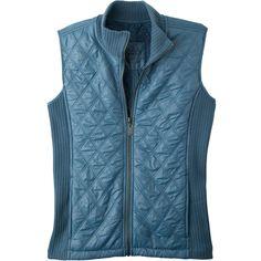 prAna Diva Vest (71 CAD) ❤ liked on Polyvore featuring outerwear, vests, jackets, vest, prana, fitted vest, blue vest, vest waistcoat and insulated vest