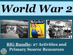 This World War 2 bundle is appropriate for US History and World History. Topics covered include but are not limited to: D-Day, the Bataan Death March, Pearl Harbor, the Holocaust, the Doolittle Raid, Navajo Code Talkers, WW2 battles, the siege of Leningrad, the Munich Conference and appeasement, Lebensborn Tuskegee Airmen, V-E Day, V-J Day, the rise of Europe's totalitarian leaders, Truman, the rape of Nanking, World War 2 conferences, and more! World History, World War, Geography Test, Doolittle Raid, Bataan Death March, Code Talker, Appeasement, Tuskegee Airmen, Social Studies Activities
