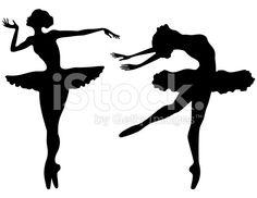 Prima Ballerina Silhouettes royalty-free stock vector art