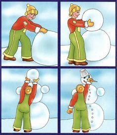 fiú sculpts hóember