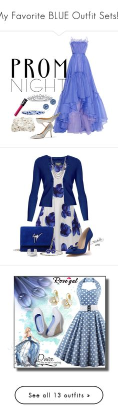"""""""My Favorite BLUE Outfit Sets!!!"""" by vahrendsen1988 ❤ liked on Polyvore featuring LUISA BECCARIA, Jimmy Choo, Accessorize, Effy Jewelry, Bling Jewelry, NARS Cosmetics, Prom, Rumour London, Shoes of Prey and Giuseppe Zanotti"""