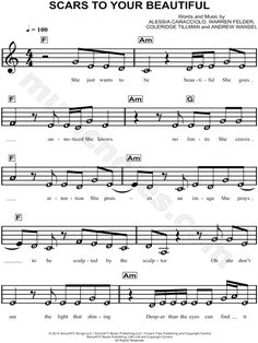 music songs Scars To Your Beautiful Scars To Your Beautiful Piano Sheet Music Letters, Easy Sheet Music, Saxophone Sheet Music, Easy Piano Sheet Music, Piano Music Notes, Violin Music, Music Sheets, Trumpet Sheet Music, Music Chords