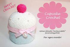 Bomboniere cupcake uncinetto, cupcake crochet, porta confetti cupcake, muffin bomboniere by WeddingDreamHandmade #italiasmartteam #etsy