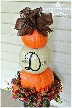 Fall DIY Projects For Outdoors Pumpkin Topiary, DIY Outdoor Fall diy fall projects - Diy Fall Crafts Holidays Halloween, Halloween Crafts, Holiday Crafts, Costume Halloween, Halloween Stuff, Vintage Halloween, Halloween Makeup, Halloween Recipe, Halloween Porch