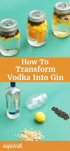 No stills or bathtubs required, all you need is vodka, botanicals and some time… Vodka Recipes, Alcohol Recipes, Cocktail Recipes, Yummy Recipes, Cocktails, Homemade Alcohol, Homemade Liquor, Gin Recipe Diy, Fun Drinks
