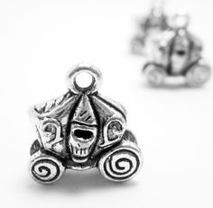 5 Silver Carriage Coach Charms 4410 by OverstockBeadSupply on Etsy, $1.80