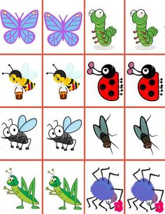 """Memory game """"Insects"""",games for kids,math for kids by Majasonlinedaycare on Etsy Memory Games For Kids, Math For Kids, Insect Games, Learn Math Online, Bugs And Insects, Insects For Kids, Math Games, Preschool Activities, Memories"""