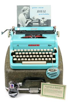 1957 Turquoise Royal Quiet De Luxe #Typewriter / by Retroburgh
