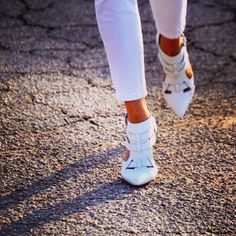 love these edgy white shoes via @ShoeMint