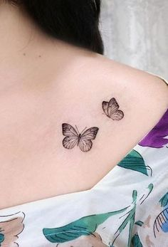 Mar 2020 - butterfly tattoos for you to inspire - Illusion Dose Simple Butterfly Tattoo, Butterfly Tattoo On Shoulder, Butterfly Tattoos For Women, Tiny Tattoos For Girls, Butterfly Tattoo Designs, Small Tattoos, Shoulder Tattoos, Subtle Tattoos, Pretty Tattoos