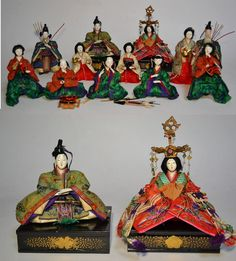 Japanese antique HINA NINGYO miniture doll set 012201 in Antiques, Asian Antiques, Japan, Dolls | eBay