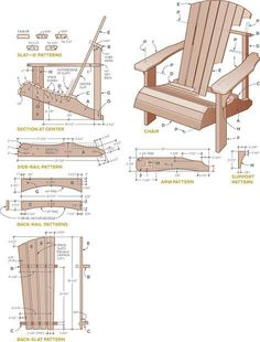 DIY tutorial to make chairs from pallets