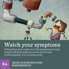 Strategies for dealing with RA fatigue. Watch your symptoms   Rheumatoidarthritis.net