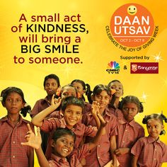 Care a little, give a little, receive a lot more. Manyavar & CNBC TV18 present 'Daan Utsav'. #EarnYourRespect