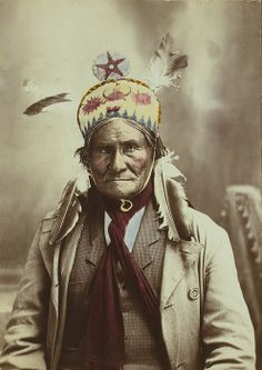 Geronimo (1829-1909), Chiricahua Apache warrior, 1903 portrait by J.W. Collins.