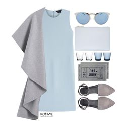 """""""#ROMWE"""" by credentovideos ❤ liked on Polyvore featuring Theory, Illesteva, iittala, H&M, Whistles, women's clothing, women, female, woman and misses"""