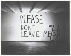 Please Don't Leave Me - Bas Jan Ader, 1992   Collectie Boijmans
