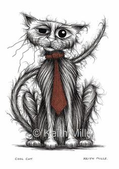 Cool cat Print download by KeithMills on Etsy, £3.00