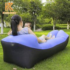 Camping & Hiking Outdoor Inflatable Lazy Bag Air Sleeping Bag Interesting Camping Portable Air Sofa Beach Bed Air Hammock Terylene Sofa 2019 New Fashion Style Online