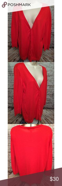 The Limited Red V-neck Cardigan Sweater Sz XL but has some stretch to it. Excellent condition.     Approximate Measurements lying flat:   Chest (armpit to armpit):  20 inches Length (shoulder to hem):  27 inches  Smoke free home. The Limited Sweaters Cardigans