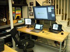 Pole Mounted Monitor Desk [Desk Week]