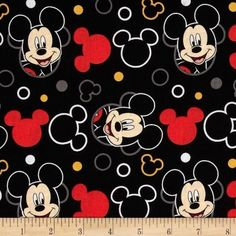 Disney Mickey Mouse Everyday Faces Toss 100% Cotton Fabric   eBay