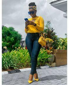 Black Girl Fashion, Look Fashion, Autumn Fashion, Plaid Shirt Outfits, Denim Outfit, Classy Outfits, Chic Outfits, Plus Size Shirt Dress, Denim Tees