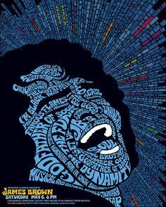 Cartel tipografico formando una imagen