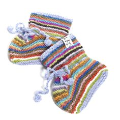 Baby Rainbow Booties from Bolivia