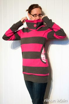 Riinun: Ihanaa imetystä Turtle Neck, Hoodies, Sewing, Sweaters, Fashion, Moda, Sweatshirts, Dressmaking, Couture