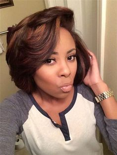 with side bangs wigs for black women human hair wigs lace front wigs african american women wigs black girl natural bob hairstyles Cute Hairstyles For Short Hair, Black Women Hairstyles, Short Hair Cuts, Bob Hairstyles, Straight Hairstyles, Curly Hair Styles, Natural Hair Styles, Pixie Haircuts, Gorgeous Hairstyles