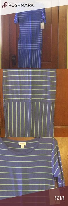 JUST IN BNWT LuLaRoe Julia This is a gorgeous stripe design. In person it is a stunning dress! BNWT LuLaRoe Julia LuLaRoe Dresses
