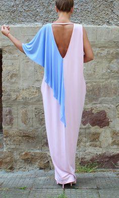 Pink backless dress Maxi Dress Caftan Party by cherryblossomsdress Kaftan  Abaya 2db5ee14e