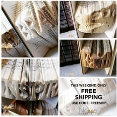 Don\'t forget to take advantage of FREESHIPPING today and tomorrow and purchase beautiful folded book art @novelexpressiongifts for those on your list! Custom orders and DIY kits are available. Use code: FREESHIP.  Shop: NovelExpression.e... #etsy #etsysale #etsyshop #etsygifts #holidaygifts #holidayhandmade #giftsforfamily #giftsforpastors #giftsforteachers #giftsforhome #giftsforfriends #cybermonday #giftsforreaders #handmadegifts #inspirationalgifts #gifts #handmade #diycrafts #instabook #inspire #bookarts #writers #author #booklover #christmasgifts #christmasgiftideas #holidaygiftguide2015