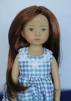Long wig with no bangs. Can be worn as center or side part. Has a little wave. Bjd, Doll Accessories, Fashion Accessories, Doll Wigs, Wig Cap, Little Darlings, 9 And 10, American Girl, Bangs