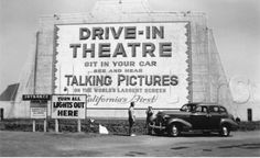 The very first drive in theater in Los Angeles, 1935