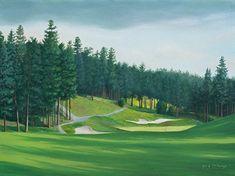 Quail Course Hole 8 by Rod McAuley Oil ~ 12 x 16